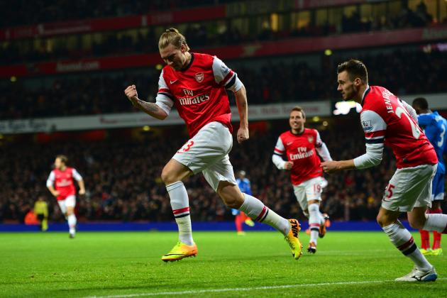 Arsenal vs. Hull: A Big Night for Nicklas Bendtner