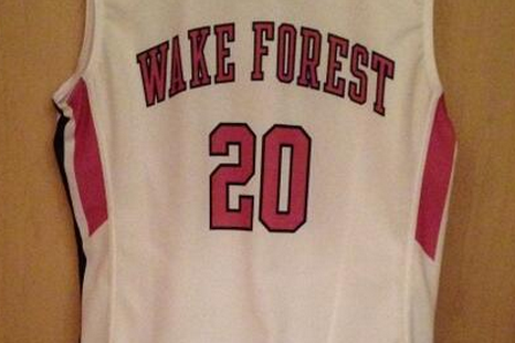 Wake Forest Basketball Team Wearing Pink Shoes and Uniforms for Cancer Awareness