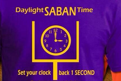Alabama's Loss to Auburn with :01 Remaining Leads to 'Daylight Saban Time' Shirt