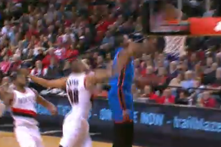 Serge Ibaka's Big Block Quickly Leads to Kevin Durant's Big Dunk