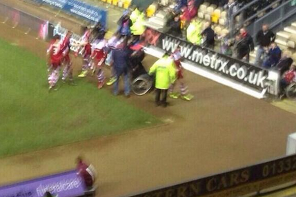 Middlesbrough's Players Celebrated a Goal with a Fan in a Wheelchair