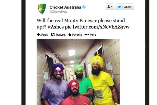 Cricket Australia's Monty Panesar Tweet Draws Accusations of Racism