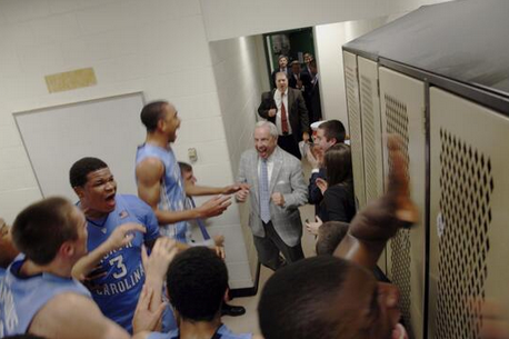 Photos: Heels Celebrate MSU Upset