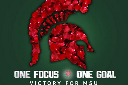 Photo: Michigan State Unveils Awesome Rose Bowl Graphic