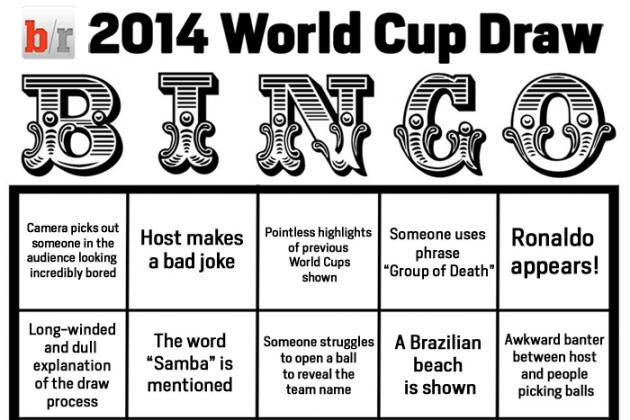 B/R's 2014 World Cup Draw Bingo Card