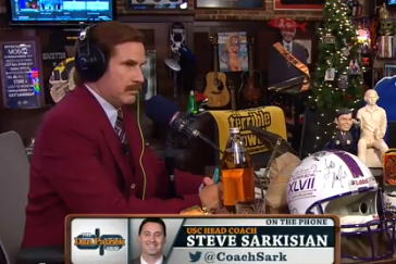 Video: Ron Burgundy Interviews Steve Sarkisian on Dan Patrick Show