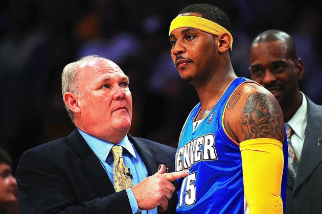 George Karl Jabs at Carmelo Anthony, Says He 'Doesn't Produce Championships'