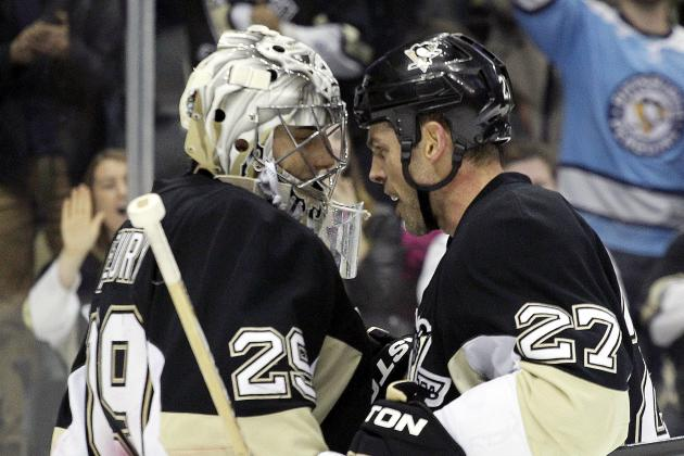 Fleury, Crosby Lead Penguins to Victory over Sharks at Consol