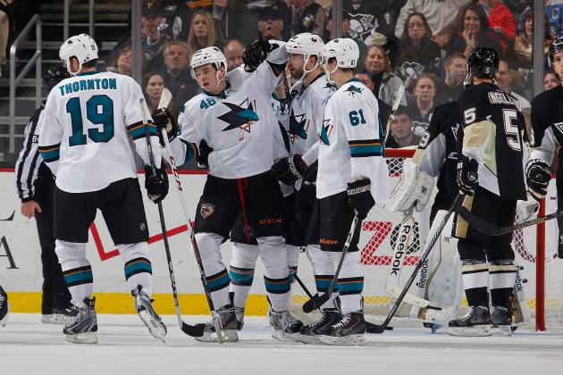 Sharks' Six-Game Winning Streak Snaps in Pittsburgh