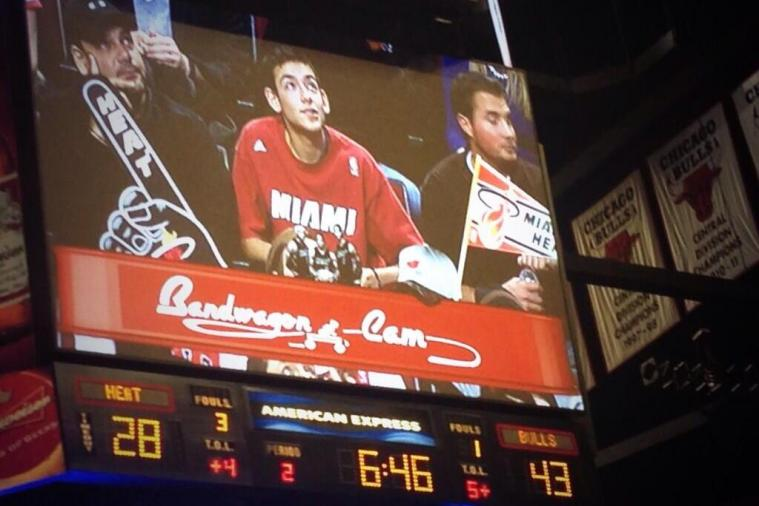Chicago's United Center Has a 'Bandwagon Cam' for Heat Fans in the Arena