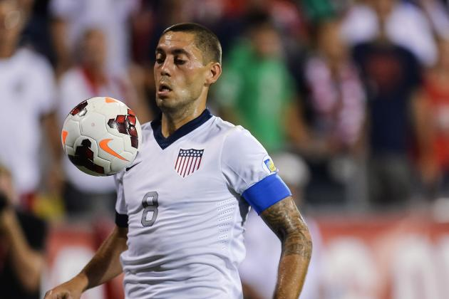 U.S. Attacker Clint Dempsey Reacts to World Cup Draw