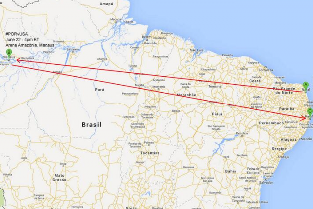 USMNT Must Travel 8,866 Miles in Group Play