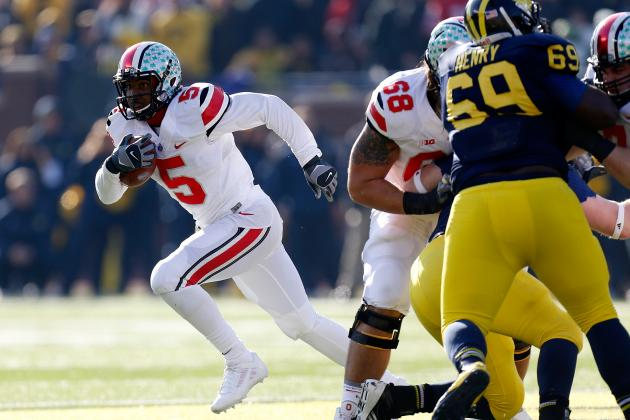 B1G Championship 2013: Is Braxton Miller or Carlos Hyde Bigger Threat to MSU?