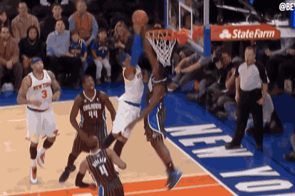 Victor Oladipo Rejects Carmelo Anthony at the Rim with Statement Swat