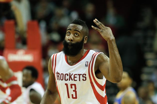 Harden Scores 34 Points to Lead Rockets in 105-83 Win over Warriors