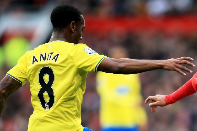 GIF: Vurnon Anita's Hand Stops Manchester United Goal vs. Newcastle