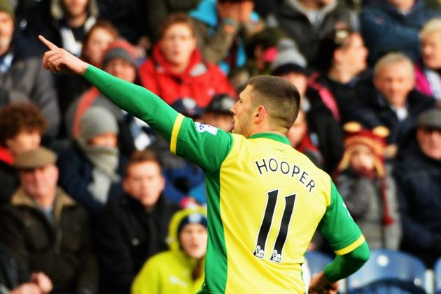 GIF: Gary Hooper Goal Puts Norwich 1-0 Ahead at West Bromwich Albion