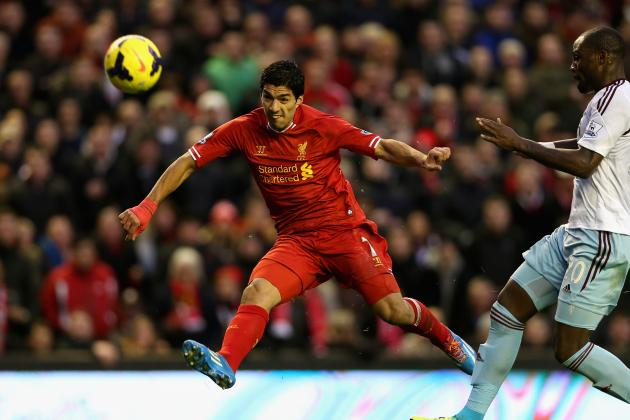GIF: Luis Suarez Scores Goal as Liverpool Go 4-1 Ahead of West Ham United