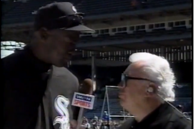 VIDEO: Chicago Legends Harry Caray, Michael Jordan in Wrigley Field