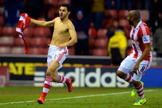 GIF: Oussama Assaidi Scores Amazing Goal as Stoke Stun Chelsea 3-2