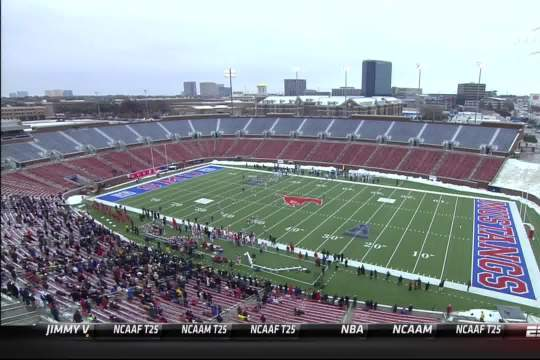 Cold Weather Leads to Extremely Small Crowd at UCF-SMU Game