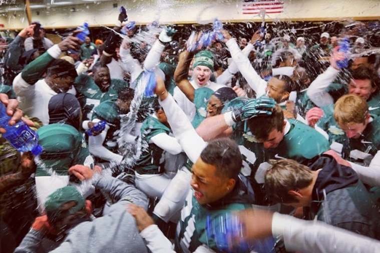 Fantastic Photo Is Born from Baylor's Locker-Room Celebration