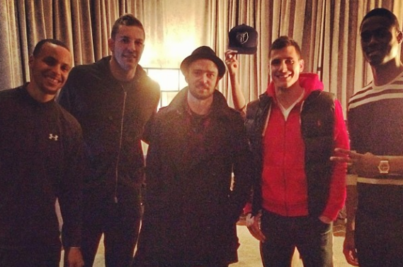 Instagram: Warriors Hang Out with Justin Timberlake