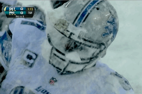 Amazingly Snowy Conditions Across the NFL Make for Some Outstanding GIFs
