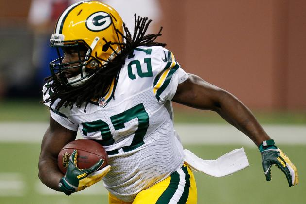 Eddie Lacy Questionable to Return vs. Falcons Due to Ankle Injury
