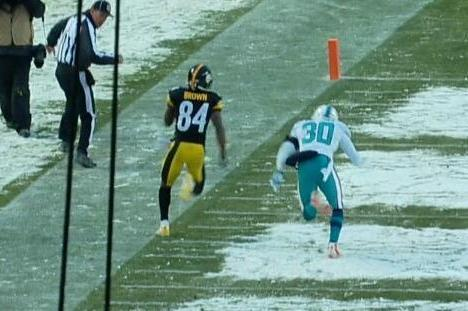 Steelers' Antonio Brown Steps out of Bounds on Final Play to Negate TD