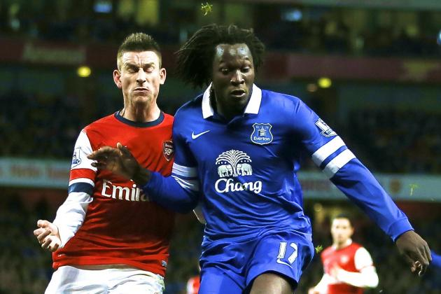 Arsenal vs. Everton: Laurent Koscielny Shows Romelu Lukaku Who Is Boss