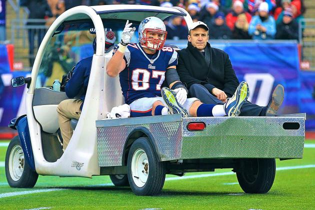 Rob Gronkowski Injury a Nightmare Scenario for Patriots' Super Bowl Hopes