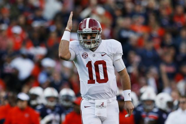 Alabama QB AJ McCarron Wins 2013  Johnny Unitas Golden Arm Award