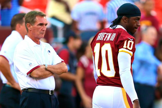 Mike Shanahan Refuses to Name Robert Griffin III Starter vs. Falcons