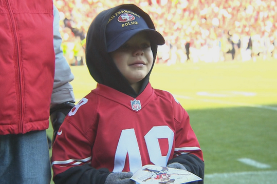 Batkid Returns to Cheer on the 49ers at Candlestick Park