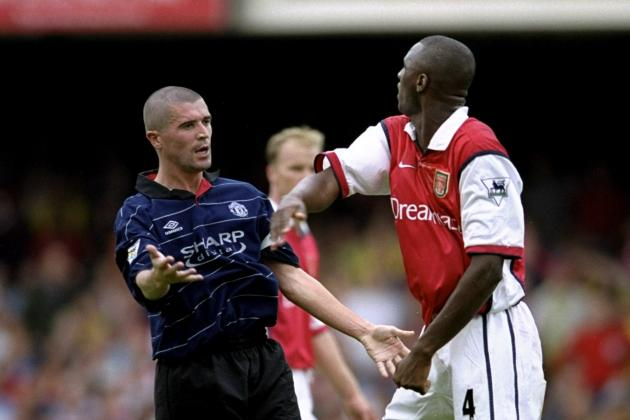 Roy Keane and Patrick Vieira Argue over Joint Arsenal and Manchester United XI