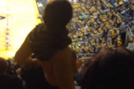 West Virginia Fans Make It Rain on Twerking Girl During Game [VIDEO]