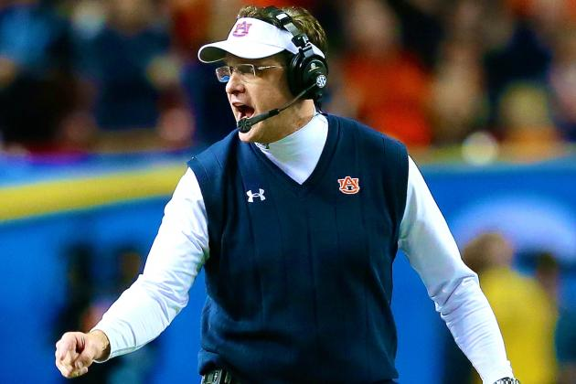 Auburn's Gus Malzahn Wins 2013 Home Depot Coach of the Year Award