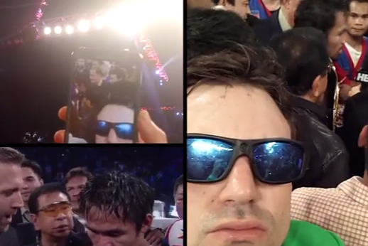 Fake Federer Guy Claims to Sneak into Manny Pacquiao Fight in Hilarious Video