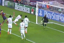 GIF: Gerard Pique Scores for Barcelona vs. Celtic in Champions League