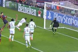 GIF: Gerard Pique Scores for Barcelona vs. Celtic in Champions League