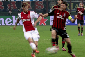 GIF: AC Milan's Riccardo Montolivo Sent off vs. Ajax in Champions League Decider