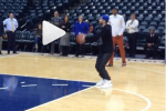 Paul George Plays Horse with Timberlake After Win