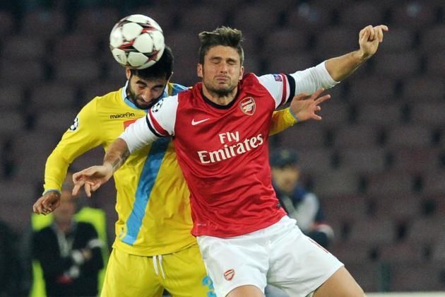 Napoli vs. Arsenal: Live Player Ratings for the Gunners