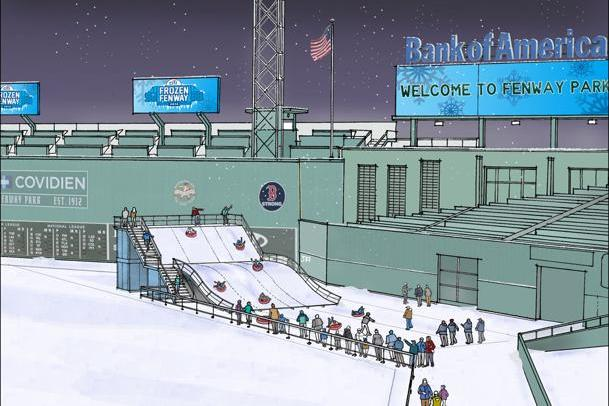 Boston Red Sox Fans Will Be Able to Sled Down a Ramp at Fenway Park