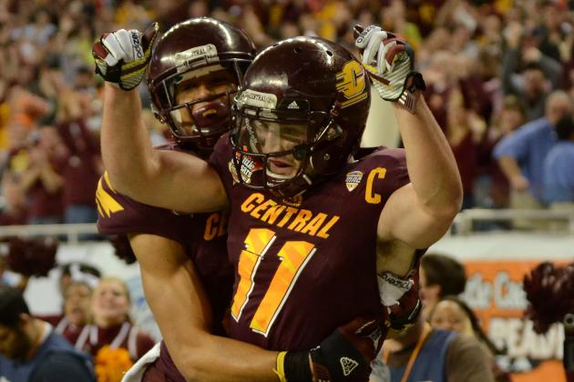 Lions Sign Ex-Central Michigan WR Cody Wilson to Practice Squad