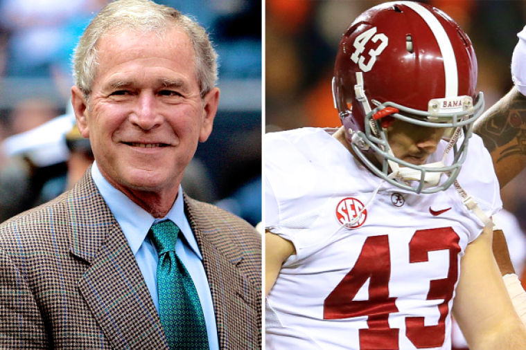 George W. Bush Wrote to Alabama Kicker Cade Foster After the Iron Bowl