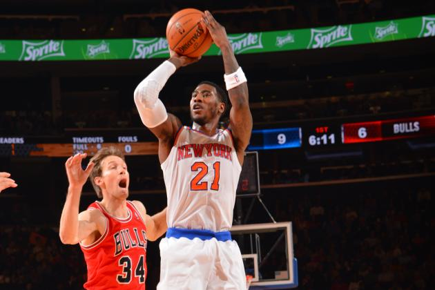 Iman Shumpert Bruises Left Knee vs. Bulls