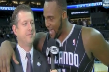 Glen Davis Extremely Close with Reporter in Postgame Interview