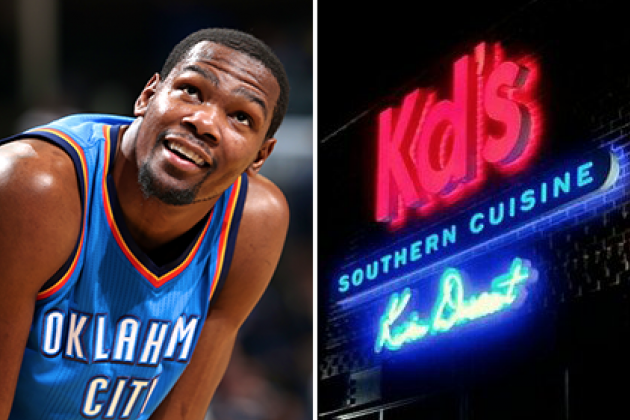 Kevin Durant Has a Private Room and DJ in His Swanky New OKC Restaurant